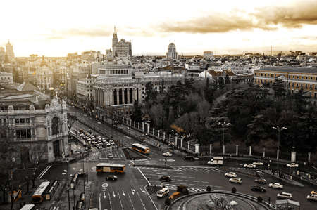 General view of the city of Madrid in Spain photo