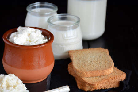 products that come from the kefir, such as the yoghurt and the cheese
