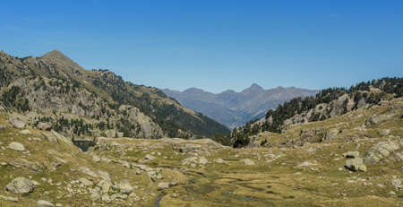Photographs of the valley in the Spanish Pyrenees. in midsummer. Ideal for hiking