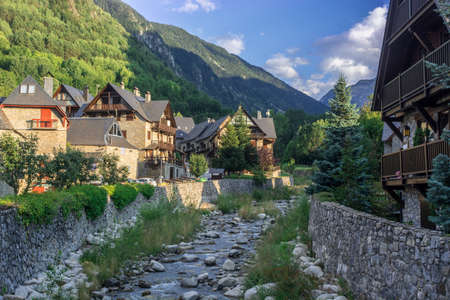 Photographs of the D´Aran Valley in the Spanish Pyrenees. in midsummer. Ideal for hiking Stock Photo