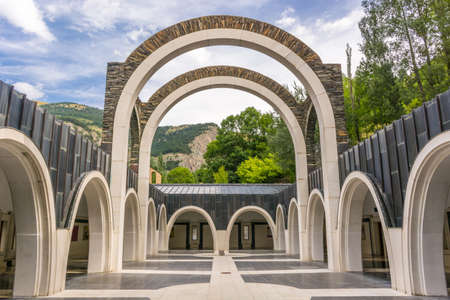 tourism in andorra: Basilica of Meritxell, located in Andorra, a country located in the Pyrenees