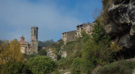Mountain village called Rupit, located in Catalonia, Spain Banco de Imagens