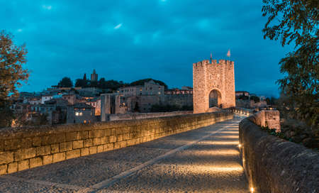 Medieval village called Besalú, is located in Catalonia, Spain a medieval Jewish people