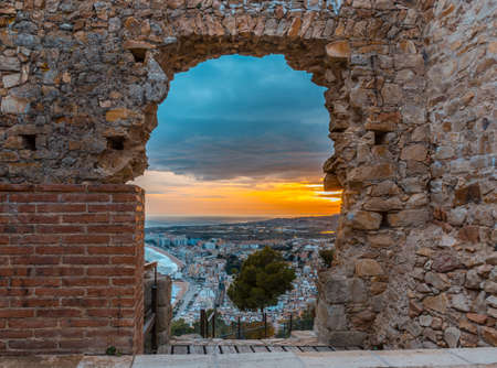 Sunset in Blanes of San Juan. Place located in Catalonia, Spain
