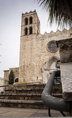 Romanesque church of Blanes, located in the Centre of the town Stock Photo