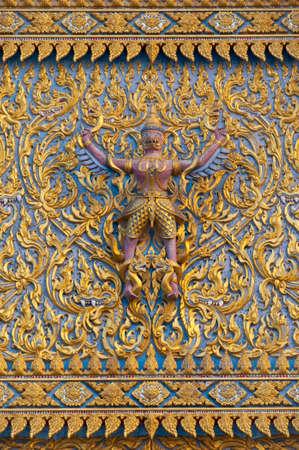 garuda: Garuda Statue on Temple