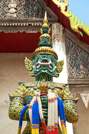 Giant Sculpture in Wat Takarong Temple, Ayuthaya- Thailand  photo
