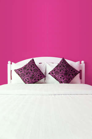 Pink Bedroom in a modern house - home interiors  photo