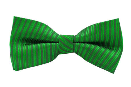 bow tie: Green bow tie isolated on white background