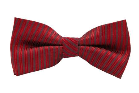 Corbata de lazo rojo sobre fondo blanco Foto de archivo