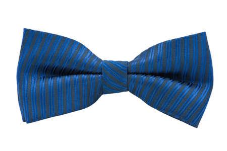 tie bow: Farfallino blu isolato su sfondo bianco