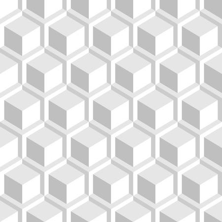 White geometric texture. Seamless 3d pattern.  イラスト・ベクター素材