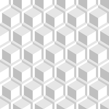 White geometric texture. Seamless 3d pattern. 向量圖像