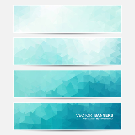 Vector banners set. Does not contain gradient and transparency.