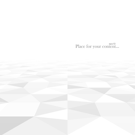 Perspective abstract background with white geometric shapes. Vector illustration - eps10. Çizim