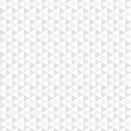 Geometric mosaic background - vector, seamless. White and grey texture. Çizim