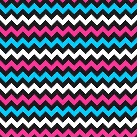 rosa negra: Modelo colorido del zigzag - vector de fondo sin fisuras envolver.