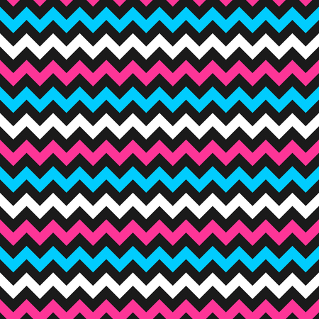 pink and black: Zigzag colorful pattern - vector seamless wrapping background.