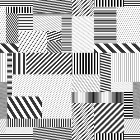 Naadloze gestreepte achtergrond. Vector creatief patroon. Elk patroon op deze achtergrond is naadloos en kan afzonderlijk worden gebruikt.