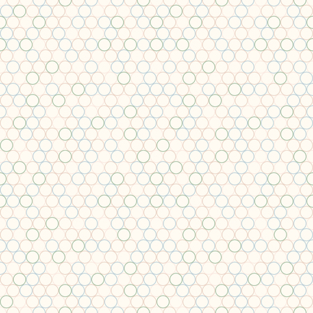 Simple pattern with circles. Vector seamless background. 向量圖像