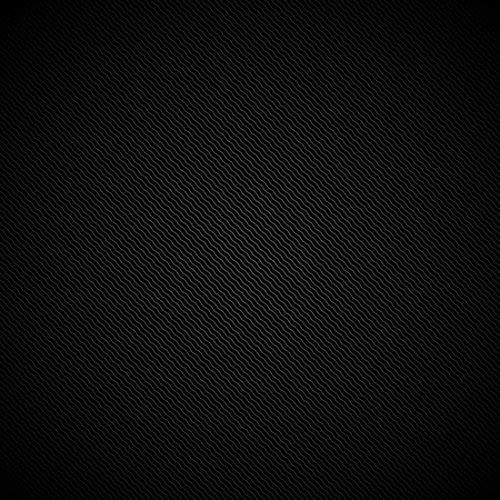 Black striped texture - vector background. Diagonal zigzags. 向量圖像