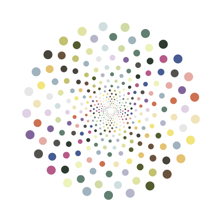 Abstract colorful shape.Vector design element. Color cirlce texture.