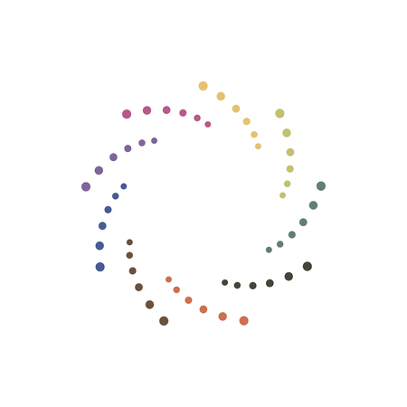Abstract dotted shape.Vector design element. Color spiral texture.