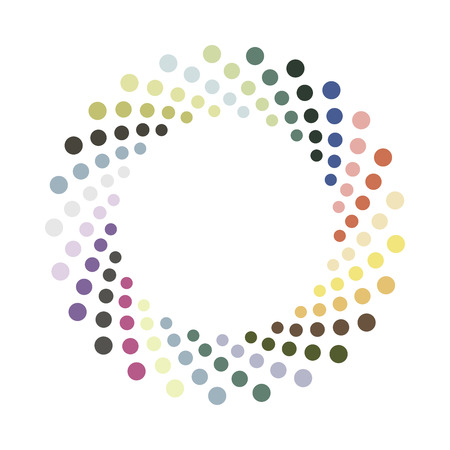 round dot: Abstract colorful circle.Vector design element. Color round texture.