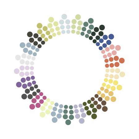 抽象的なカラフルな輪。ベクター デザイン要素。色は、テクスチャをラウンドします。  イラスト・ベクター素材