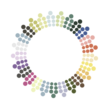 circles: Abstract colorful circle.Vector design element. Color round texture.
