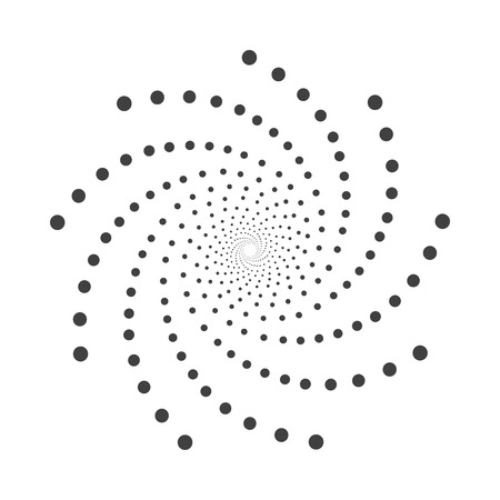 Abstract dotted shape.Vector design element Gray and white texture.