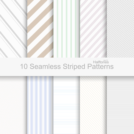 diagonal lines: Striped seamless patterns. Soft colors patterns for your design and ideas.