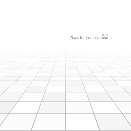 tiled floor: Abstract background. Perspective tiled floor. Vector illustration