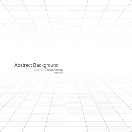 Abstract white background of vision perspective. Vector illustration