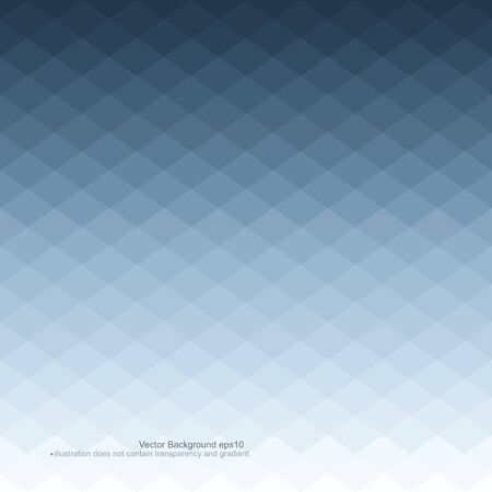 mosaic: Blue abstract background. Vector illustration does not contain gradients and transparency