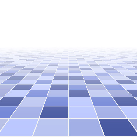Abstract background. Perspective tiled floor. Vector illustration