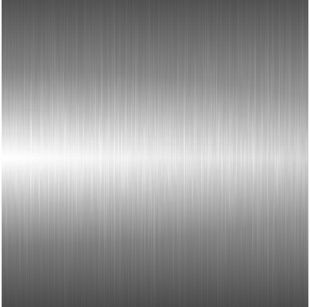 brushed: Metallic polished background. Vector bright metal texture.