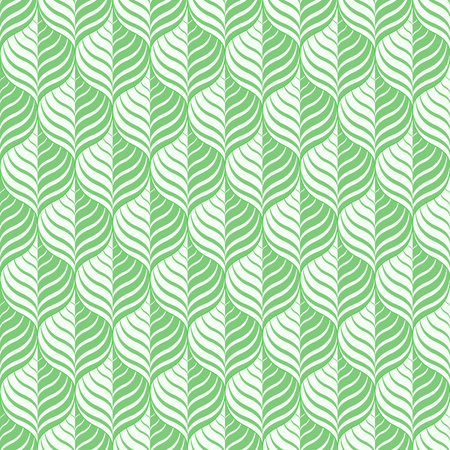 Green floral pattern - a seamless vector background. Иллюстрация