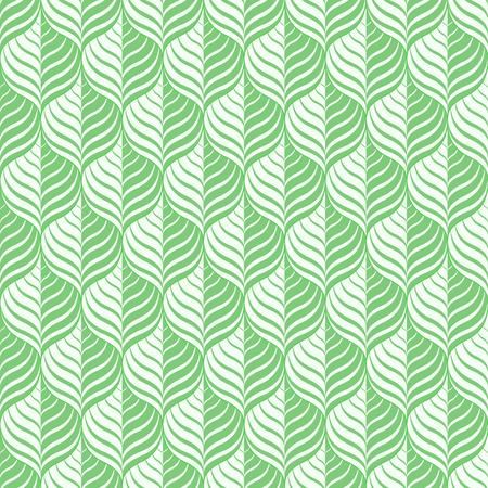 Groen bloemenpatroon - een naadloze vectorachtergrond. Stock Illustratie