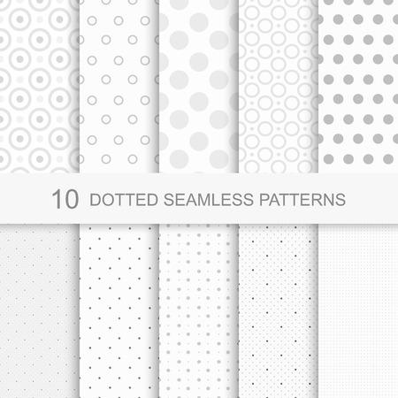 Conjunto de patrones sin problemas delicados suaves con puntos Foto de archivo - 50487153