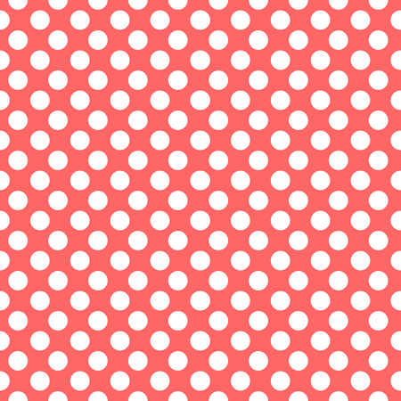 Red dots pattern a seamless vector background 版權商用圖片 - 50487423