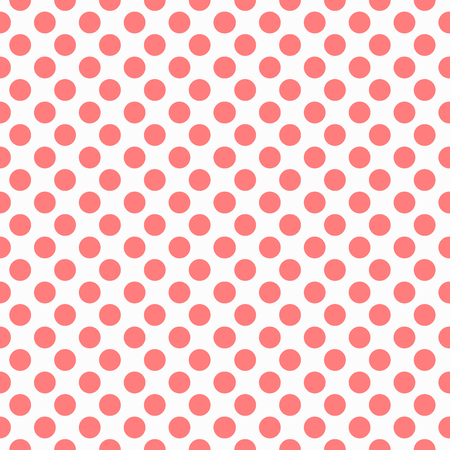 Rode puntjes patroon van een naadloze vector achtergrond