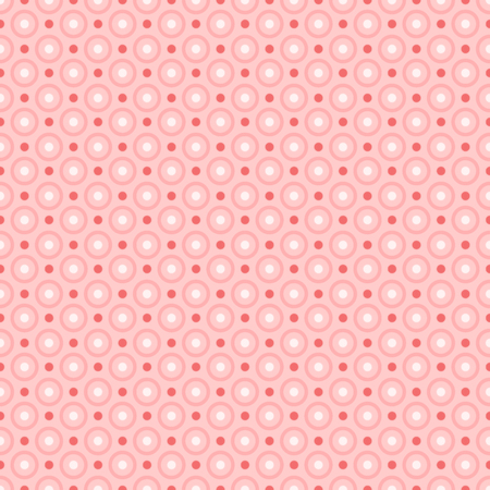 Red dots pattern a seamless vector background