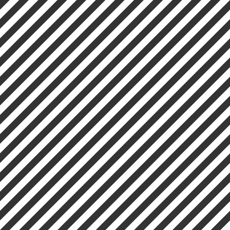 Striped pattern, seamless black and white texture  イラスト・ベクター素材