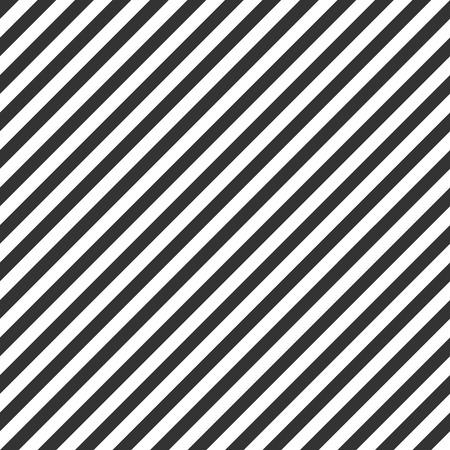 Gestreept patroon, naadloos zwart-wit textuur Stock Illustratie