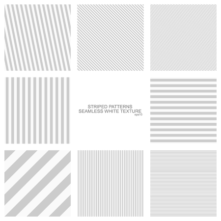 Simple striped patterns, a seamless vector collection.