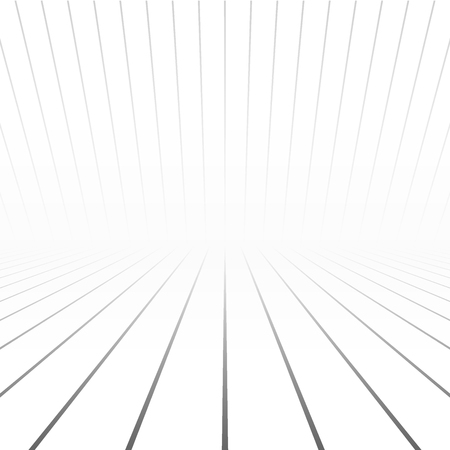 copyspace: White striped copyspace. Perspective abstract vector background Illustration