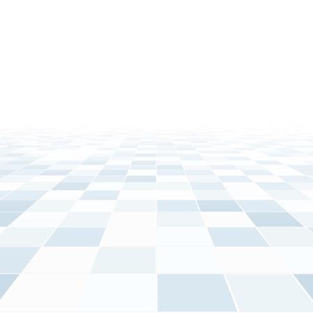 관점 추상적 인 배경입니다. 파란색 타일 바닥입니다. 일러스트