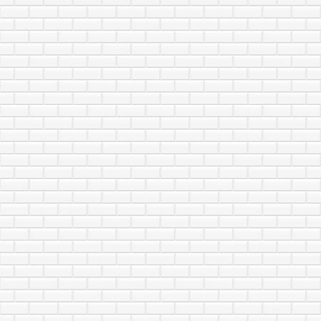 Brick wall white texture - bezszwowe tło wektor.