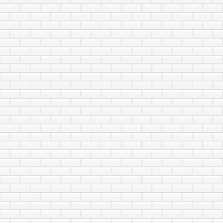 Brick wall white texture - seamless vector background.